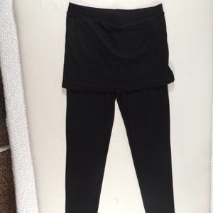 Magid Women's Black Yoga Pant with Skirt Size S/M